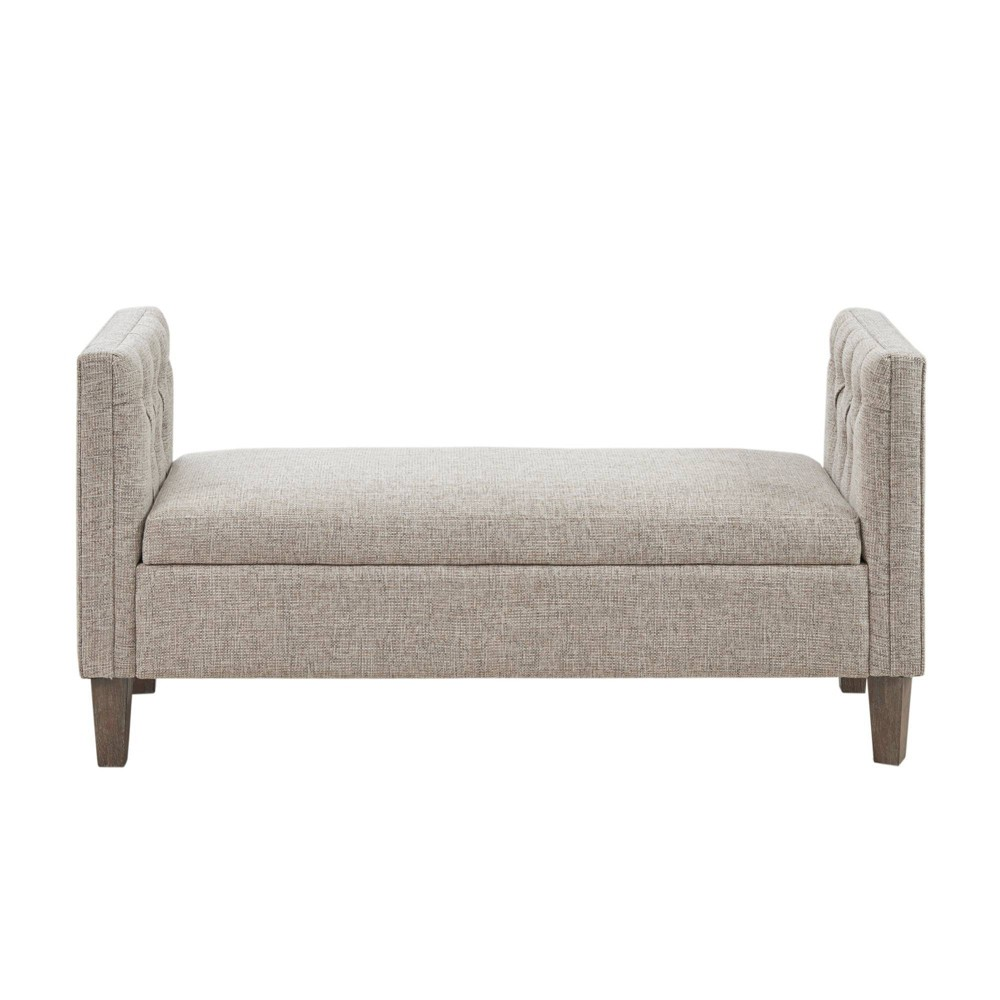 Meridian Storage Bench Gray