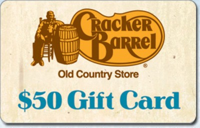 Cracker Barrel $50 (Email Delivery)