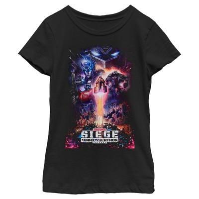 Girl's Transformers Siege Poster T-Shirt