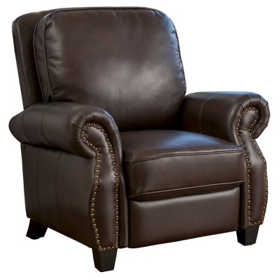 Torreon Faux Leather Recliner Club Chair Dark Brown - Christopher Knight Home