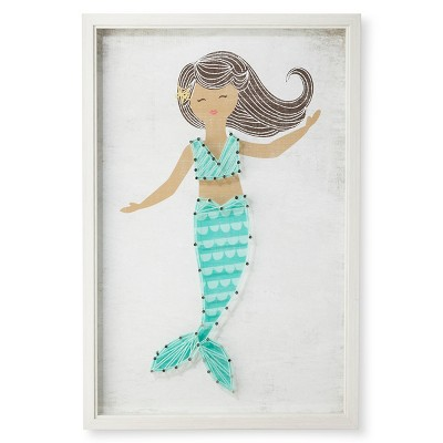 """12""""x18"""" Mermaid Framed String Art - Pillowfort™"""