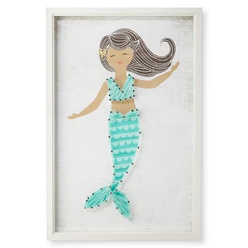 """12""""x18"""" Mermaid Framed String Art - Pillowfort™ - image 1 of 3"""