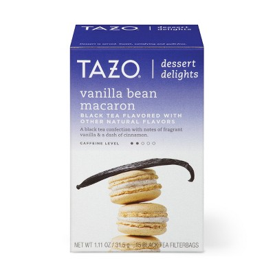 Tazo Vanilla Bean Macaron Dessert Delights Tea Bags - 15ct