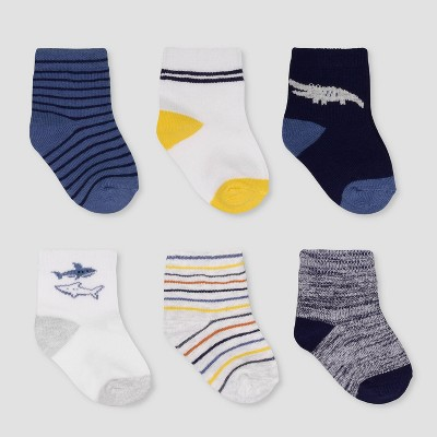 Baby Boys' 6pk Crew Socks - Just One You® made by carter's 0-3M