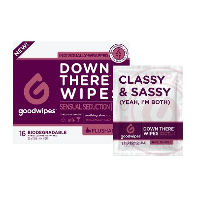 GoodWipes Sensual Seduction Flushable Down There Wipes - 16ct