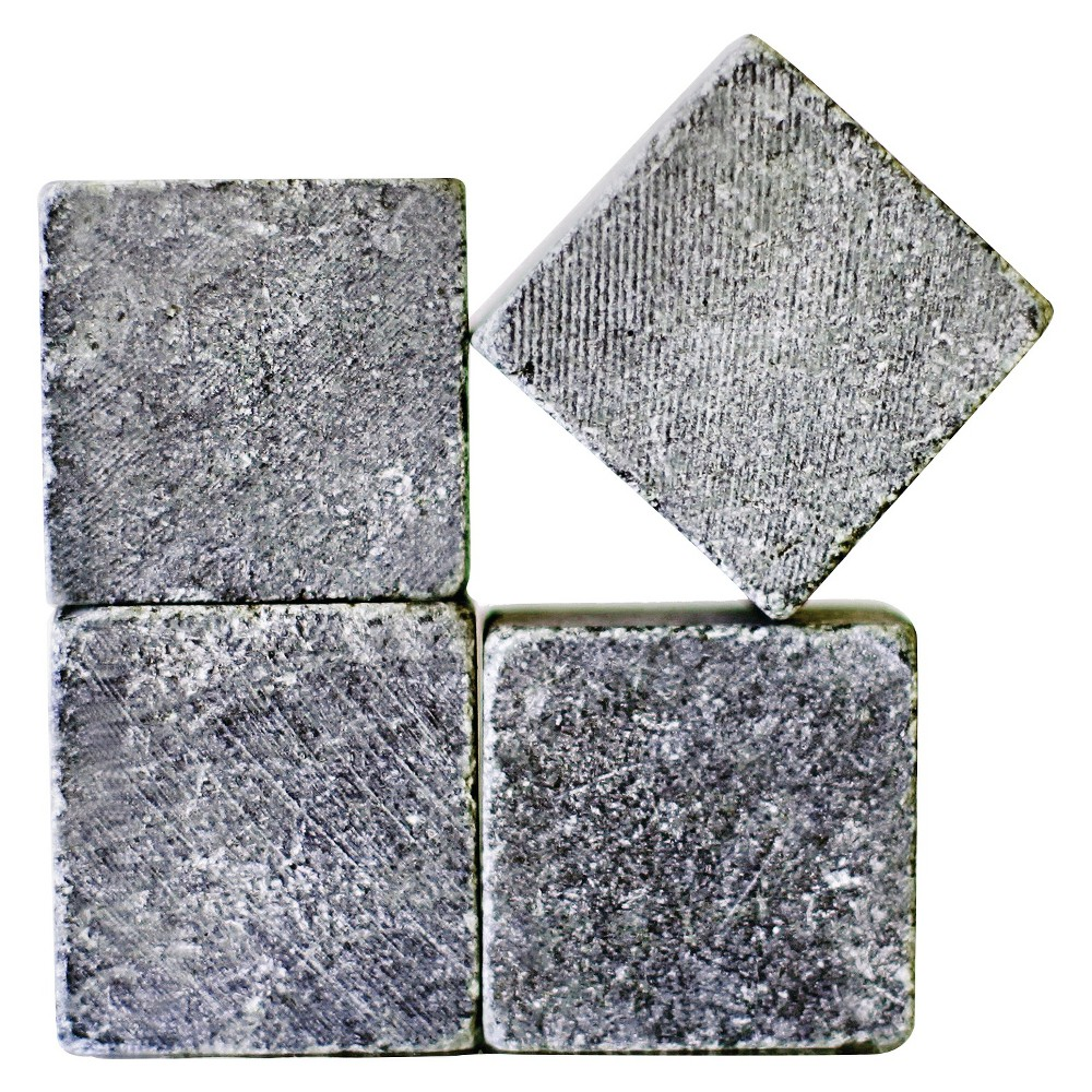 Sparq Home Whiskey Rocks Set of 4 (Large), Gray