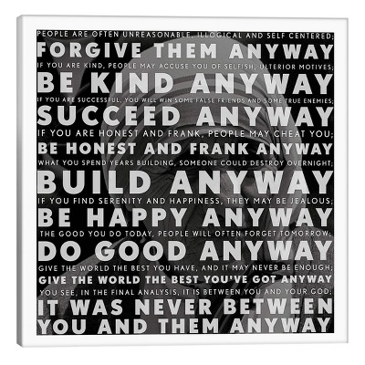 Mother Teresa Quote by iCanvas Canvas Print (18 x 18 )