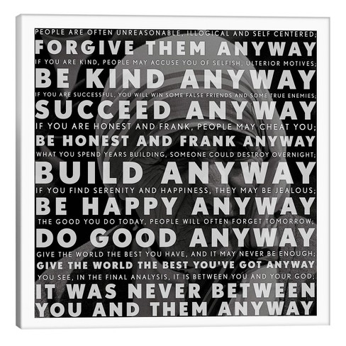 Mother Teresa Quote By Icanvas Canvas Print Target