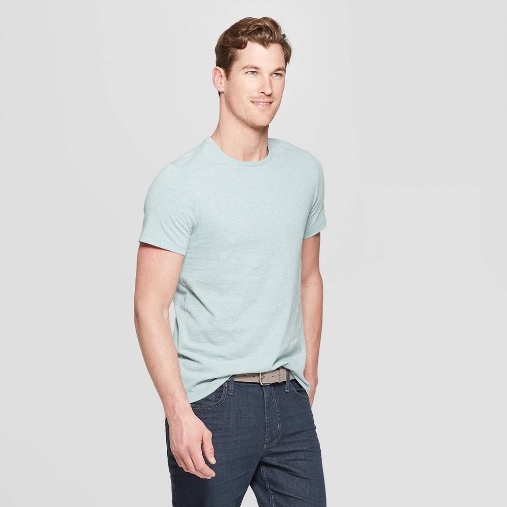 Mens Standard Fit Short Sleeve Lyndale Crew Neck T-Shirt - Goodfellow & Co West Coast Green 2XL Discounts