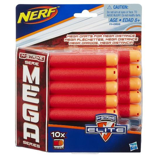 NERF N-Strike Mega Dart Refill Pack - 10ct image number null