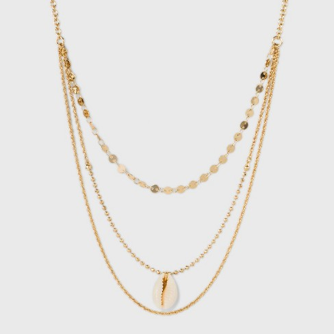 SUGARFIX by BaubleBar Seashell Pendant Layered Necklace - Gold - image 1 of 3