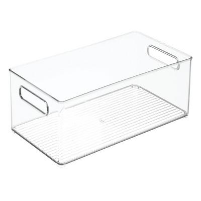 mDesign Plastic Kitchen Food Storage Organizer Bin - Clear