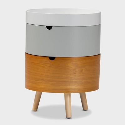 3 Tier Elison Wood Nightstand White - Baxton Studio