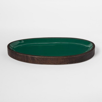 Enamel and Wood Tray - Green - Project 62™