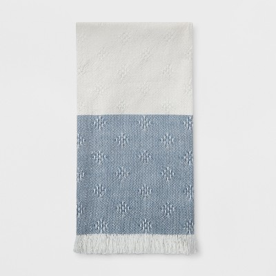 Woven Diamond Kitchen Towel Blue - Threshold™