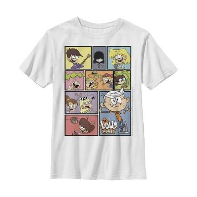 Boy's The Loud House Family Panels T-Shirt