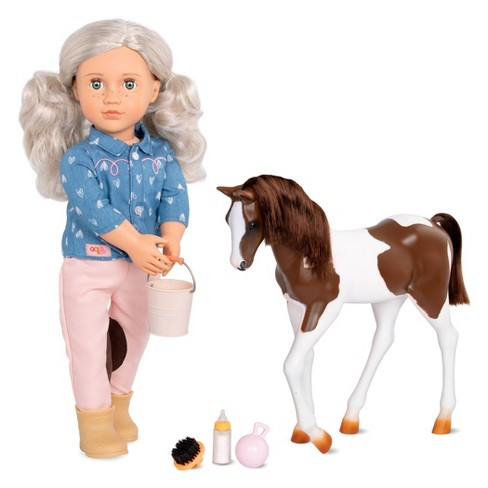 """Our Generation 18"""" Equestrian Doll & Horse Set - Yanira with Foal - image 1 of 4"""