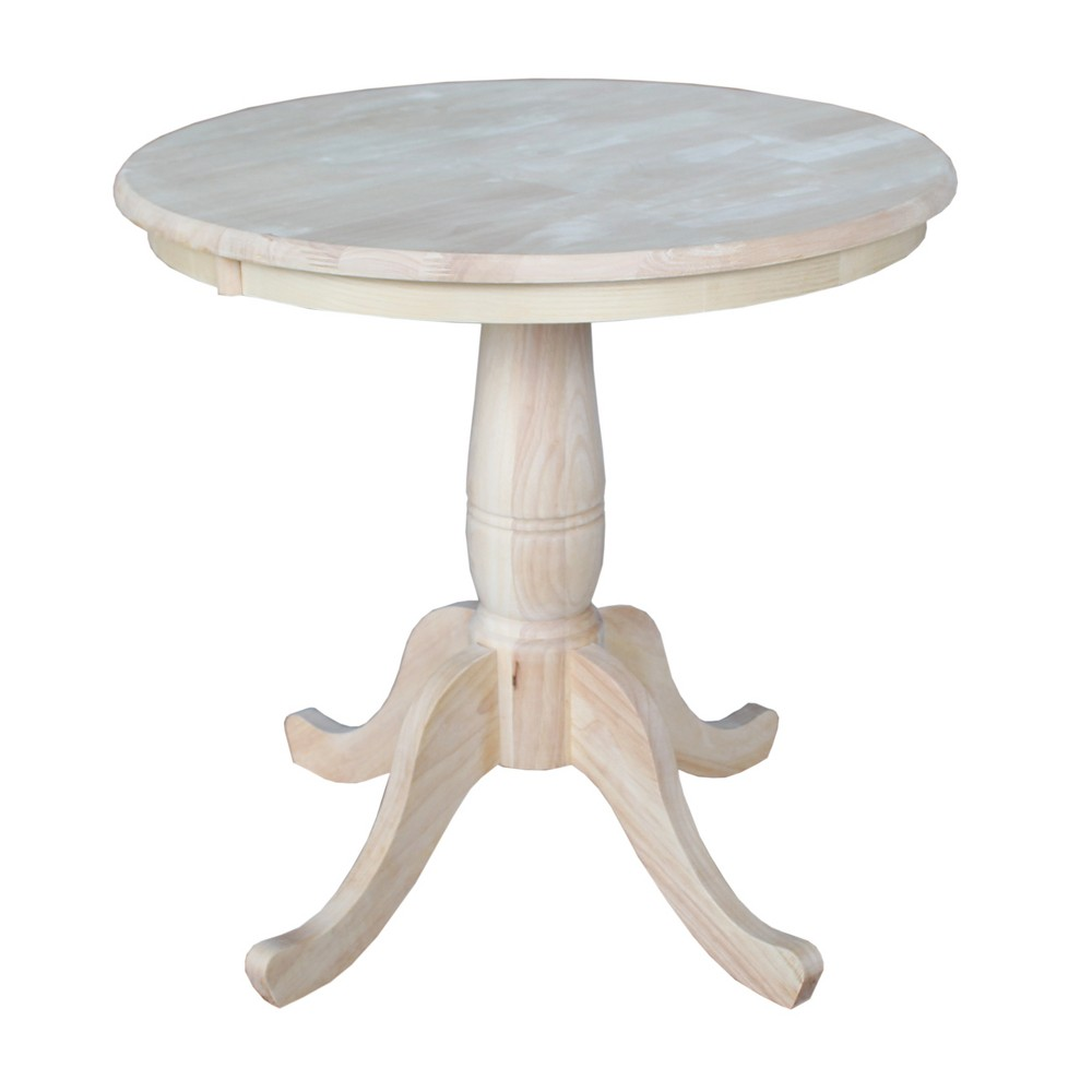 """Image of """"30"""""""" Round Top Pedestal Dining Table Unfinished - International Concepts"""""""