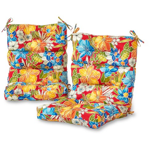 Set of 2 Outdoor High Back Chair Cushions - Aloha Red - Greendale Home Fashions - image 1 of 3