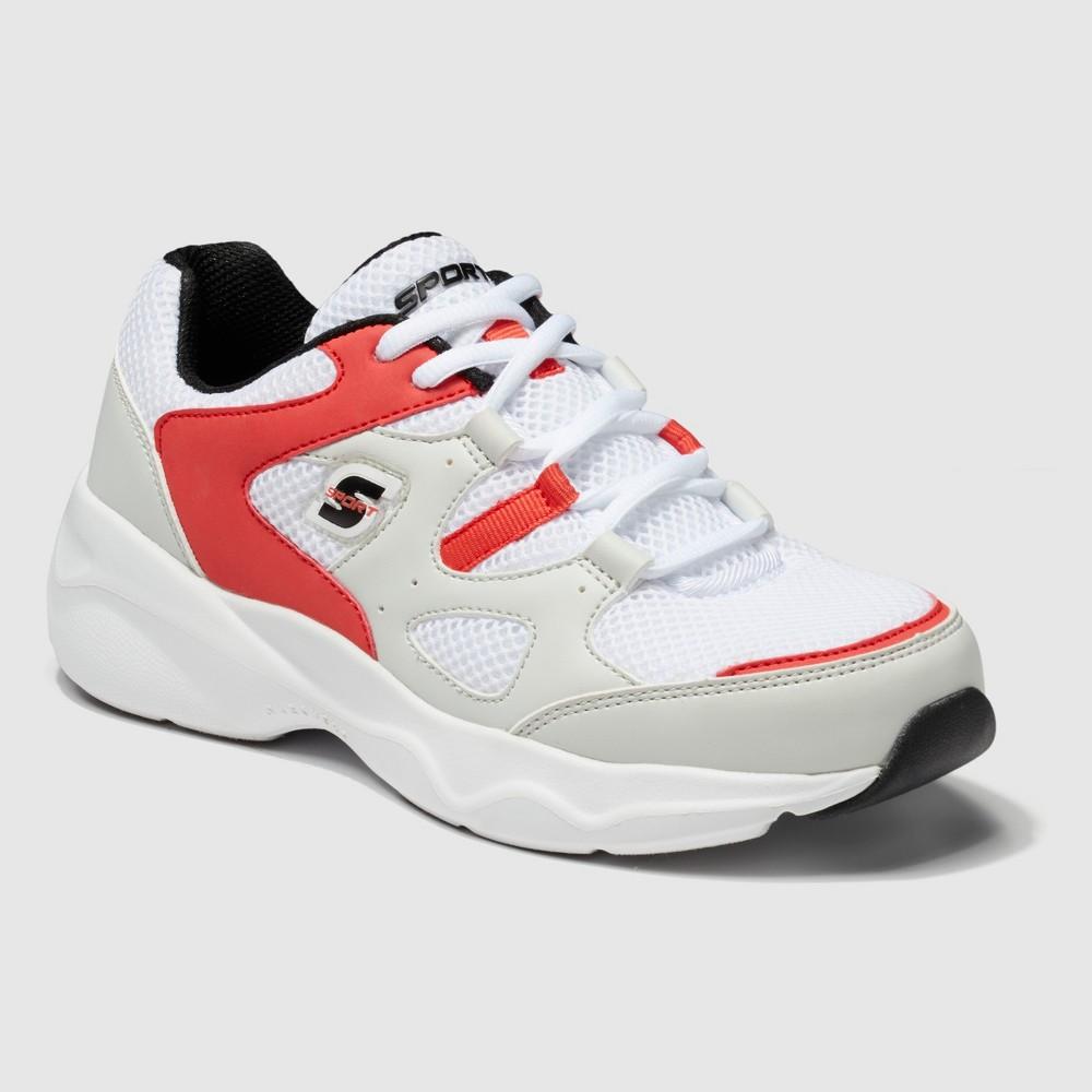 Women's S Sport by Skechers Zadie Lace-Up Training Sneakers - White 7, Orange White