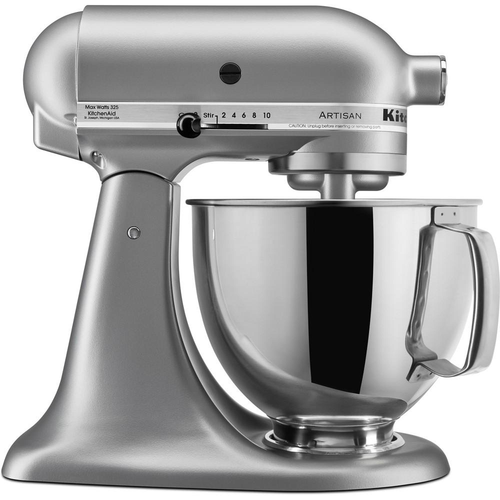 KitchenAid Artisan Series 5qt Tilt-Head Stand Mixer Silver – KSM150PSSM, Silver Gray 53168904