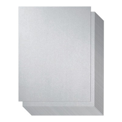 Best Paper Greetings 96 Sheet Silver Metallic Cardstock Paper for Card Making, 8.5 x 11 In