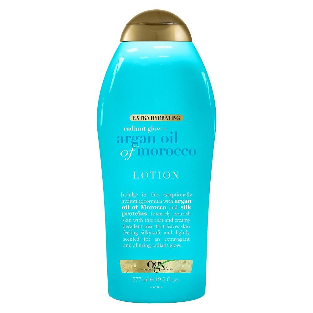 Cheap OGX Extra Hydrating Radiant Glow + Argan Oil of Morocco Lotion - 19.5 fl oz