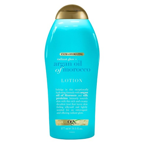 Ogx® Extra Hydrating Radiant Glow Argan Oil of Morocco Lotion 19.5 oz - image 1 of 1