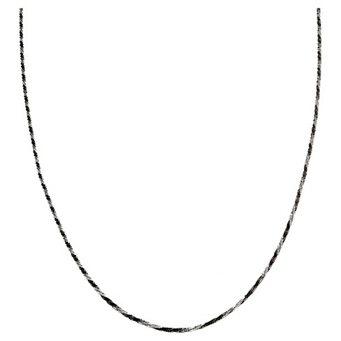 "Two-Tone Chain with Lobster Clasp Closure in Sterling Silver - Black/Gray (18"") - image 1 of 1"