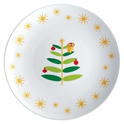 Rachael Ray Holiday Hoot Round Platter - 14""