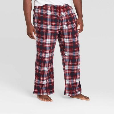 Men's Big & Tall Plaid Microfleece Pajama Pants - Goodfellow & Co™ Berry Blush