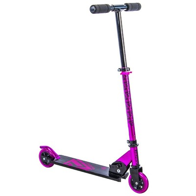 Huffy 28039 100mm Prizm Folding Inline Scooter for Kids Ages 5 and Over, Pink