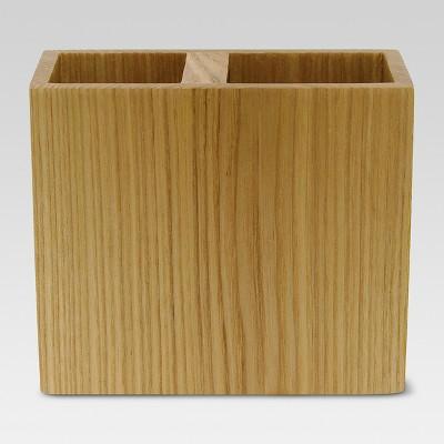 Ash Wood Toothbrush Holder Brown - Threshold™