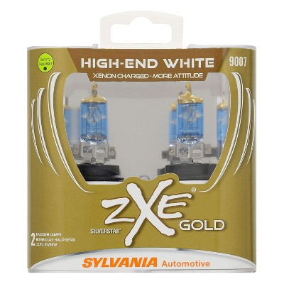 Sylvania 9007SZG.PB2 High Performance SilverStar zXe GOLD 9007 Halogen Fog Light Bulb HID Attitude and Xenon Fueled, White (2 Pack)
