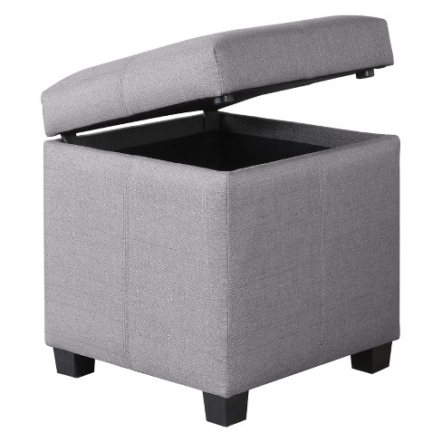 Remarkable Lori Small Storage Ottoman Mibasics Creativecarmelina Interior Chair Design Creativecarmelinacom