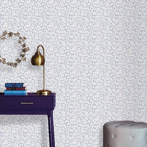 Animal Print Peel Stick Wallpaper White Light Blue Opalhouse Target