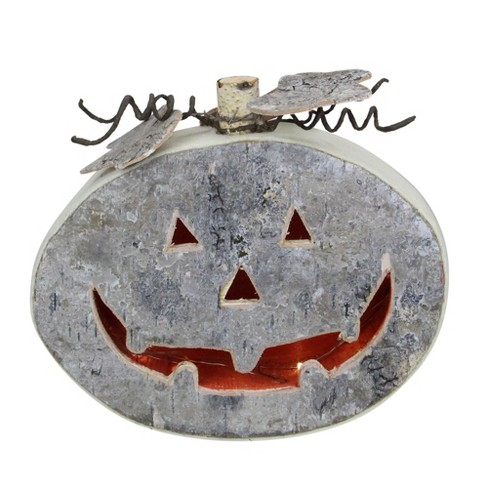 "Northlight 9.25"" Gray LED Battery Operated Jack-O-Lantern Halloween Table Top Decoration - image 1 of 3"