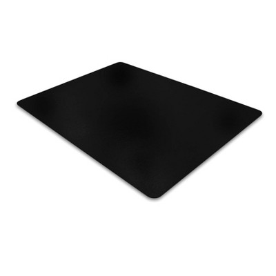 Vinyl Chair Mat for Carpets Rectangular Black - Floortex