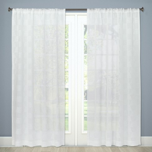 "Sheer Curtain Panel Milan White 84"" - Project 62™ - image 1 of 2"