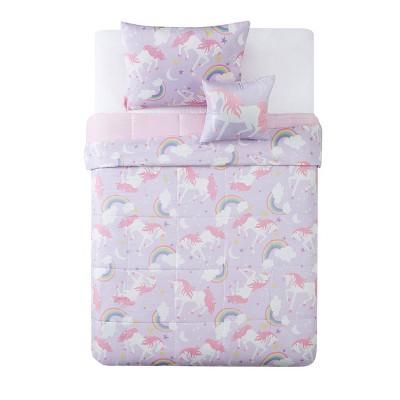 Rainbow Unicorn Comforter Set Purple - My World