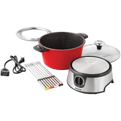 The Rock by Starfrit 3.2qt Electric Fondue Set - Black