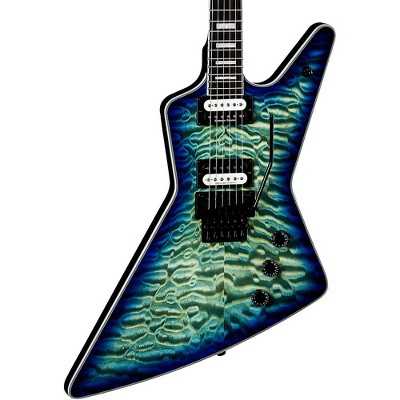 Dean Z Select Quilt Top with Floyd Electric Guitar Ocean Burst