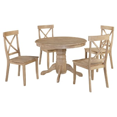 Michael 42 Round Dining Table With Set Of 4 Chairs- White Wash - Home Styles  Target  sc 1 st  Target & Michael 42