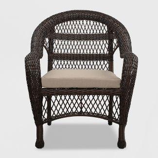 Sheridan Wicker Patio Club Chair Brown - Threshold™