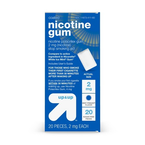 Coated Nicotine 2mg Gum Stop Smoking Aid - Mint Freeze - Up&Up™ - image 1 of 4