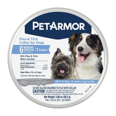 Pet Armor Flea and Tick Collar for Dogs