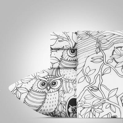 Queen Hooting Owls Hidden Pictures Sheet Set - Highlights