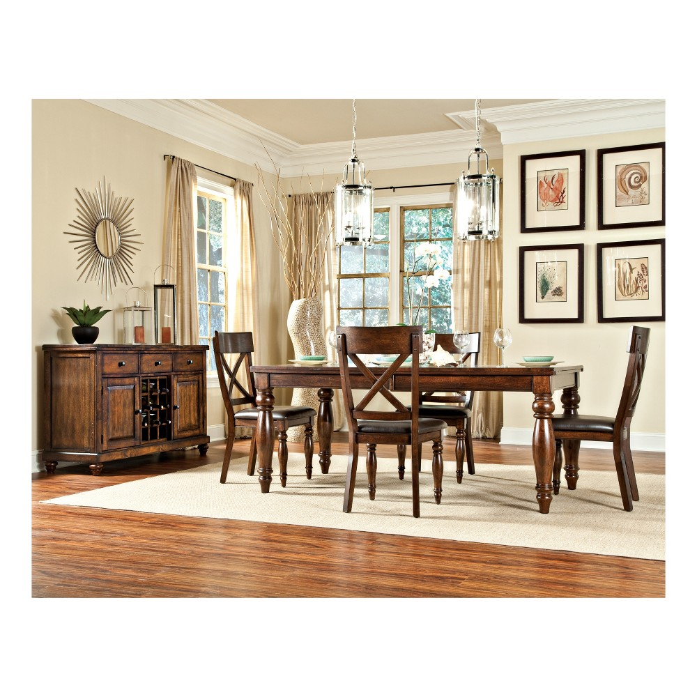 Kingston Dining Table Brown - Intercon