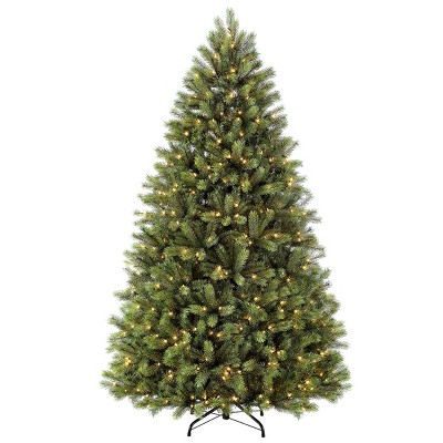7.5ft Pre-lit Artificial Christmas Tree Full Ontario Pine - Puleo
