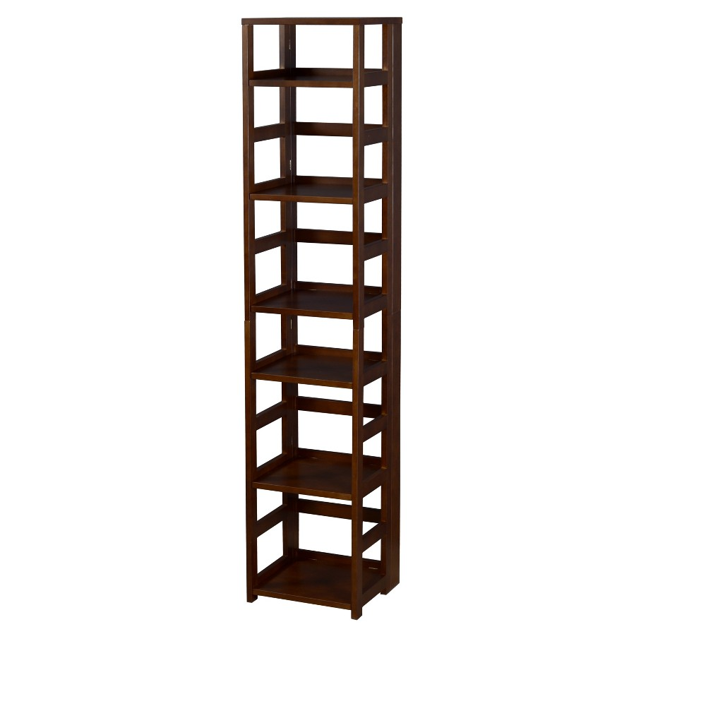 Flip Flop 67 High Square Folding Bookcase Mocha Walnut (Brown) - Niche